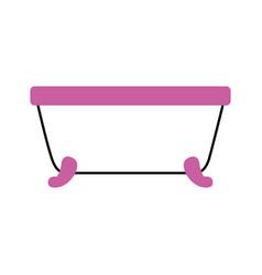 Bathtub clean hygiene interior ceramic icon vector