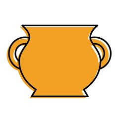 ceramic pot handle empty icon vector image