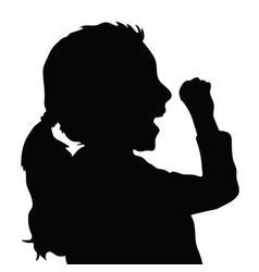 children silhouette figure in black color vector image vector image