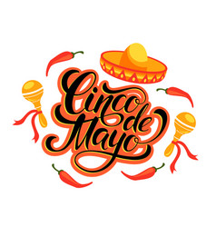 Cinco de mayo lettering design vector