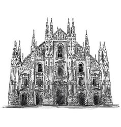 Duomo di milano vector