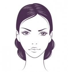 face girl vector image
