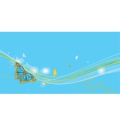 fantasy background with butterfly vector image vector image