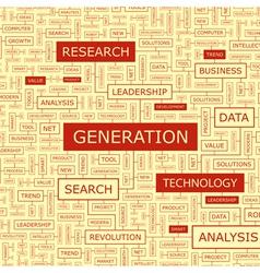 GENERATION vector image vector image