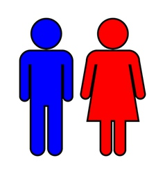 Male and Female vector image vector image