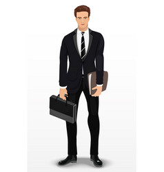 man in stylish suit businessman vector image