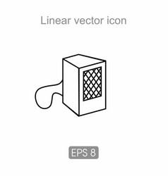 Music dynamics icon vector