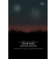 night sky vector image vector image