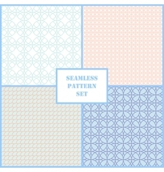 Pastel retro different seamless patterns vector image