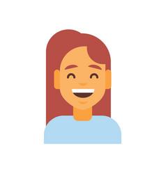 profile icon female emotion avatar woman cartoon vector image vector image