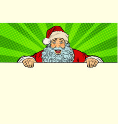santa claus white background banner vector image