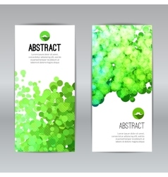 Set of Poster Banners Templates with Dots vector image