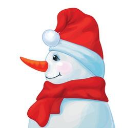 snowman profil vector image vector image