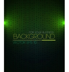 Spotlight background green vector image vector image