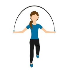 Woman jump rope isolated icon design vector