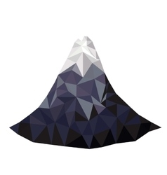 Mountain low poly isolated icon design vector