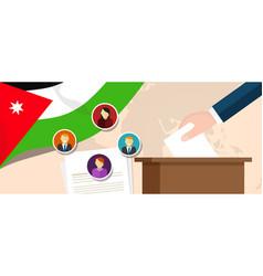 Jordan democracy political process selecting vector