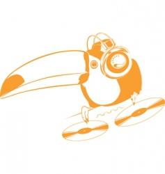 toucan dj vector image