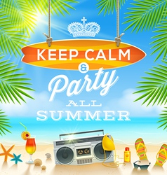 Summer holidays greeting design vector