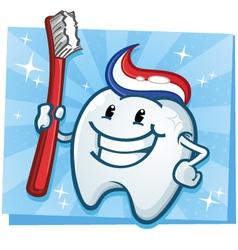 Tooth cartoon character vector
