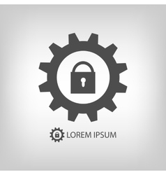 Gear wheel with lock as logo vector