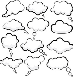 Speech clouds vector