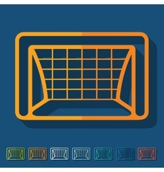 Flat design gate vector