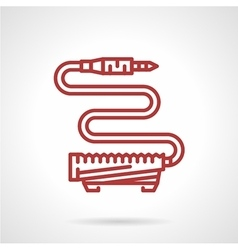 Foot pedal switch red line icon vector