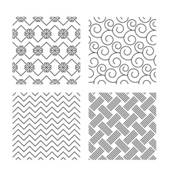 Braid weave floral ornate seamless textures vector