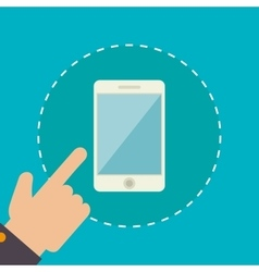 Smartphone technology graphic vector