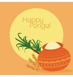 Happy pongal background vector
