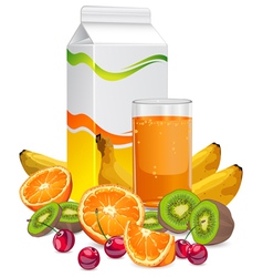 Fruit juice cup vector