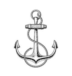 a nautical anchor vector image