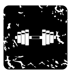 Barbell icon grunge style vector image