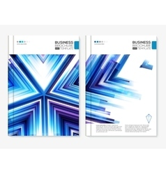 Blue business covers set vector image