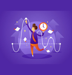 business manager controls organize time vector image