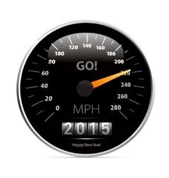 Calendar 2015 in speedometer car vector