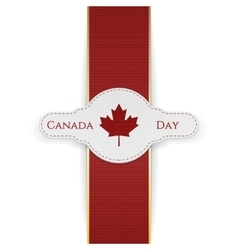 Canada Day national Banner with red Ribbon vector image