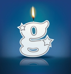 Candle letter g with flame vector image