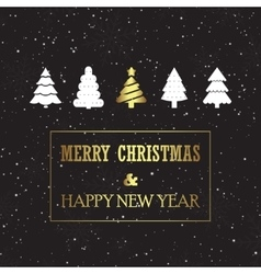 Christmas card with pines vector