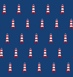 color lighthouse seamless background vector image