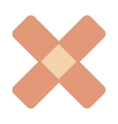 Crossed bandaid icon vector