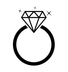 diamond jewelery ring vector image