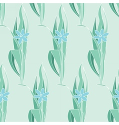 Floral green seamless pattern in modernist style vector image vector image