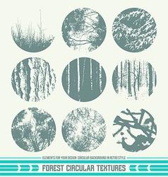 Forest circular textures vector
