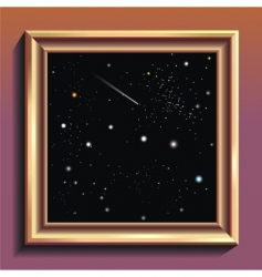 framed constellation vector image
