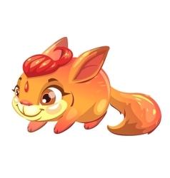 Funny cartoon fantasy squirrel pet vector