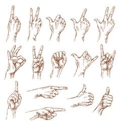 Hands gesture vector