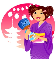 japanese festival vector image vector image