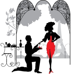 Man proposes a woman vector image